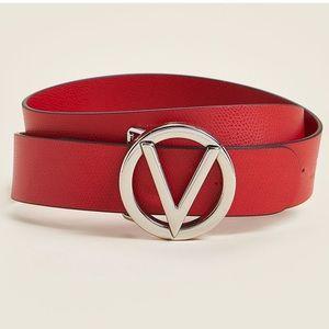 Poppy Red Giusy Palmellato Leather Belt
